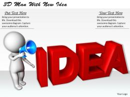 1113 3D Man With New Idea Ppt Graphics Icons Powerpoint