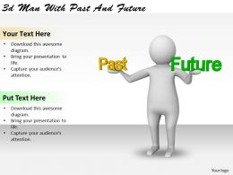 1113 3d Man With Past And Future Ppt Graphics Icons Powerpoint
