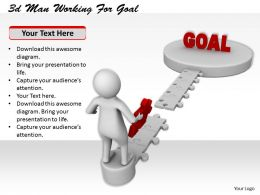 1113 3d Man Working For Goal Ppt Graphics Icons Powerpoint