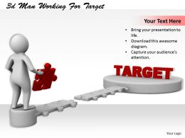 1113 3d Man Working For Target Ppt Graphics Icons Powerpoint