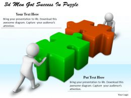 1113 3d Men Got Success In Puzzle Ppt Graphics Icons Powerpoint