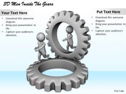 1113 3D Men Inside The Gears Ppt Graphics Icons Powerpoint