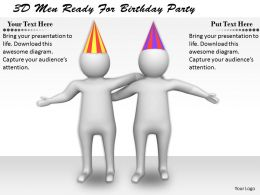 1113 3D Men Ready For Birthday Party Ppt Graphics Icons Powerpoint
