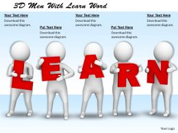 1113 3D Men With Learn Word Ppt Graphics Icons Powerpoint