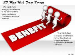 1113 3D Men With Team Benefit Ppt Graphics Icons Powerpoint