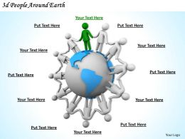 1113 3d People Around Earth Ppt Graphics Icons Powerpoint
