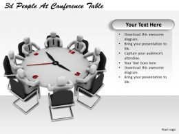 1113 3d People At Conference Table Ppt Graphics Icons Powerpoint