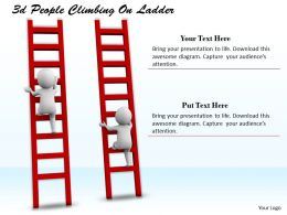 1113 3d People Climbing On Ladder Ppt Graphics Icons Powerpoint