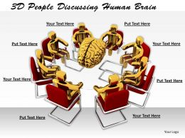 1113 3D People Discussing Human Brain Ppt Graphics Icons Powerpoint
