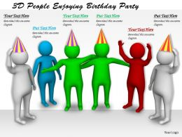 1113 3D People Enjoying Birthday Party Ppt Graphics Icons Powerpoint