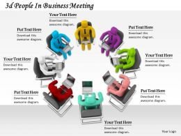 1113 3d People In Business Meeting Ppt Graphics Icons Powerpoint