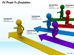 1113 3d People In Competition Ppt Graphics Icons Powerpoint