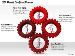 1113 3D People In Gear Process Ppt Graphics Icons Powerpoint