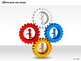 1113 3D People Inside The Gear Ppt Graphics Icons Powerpoint