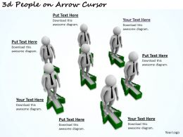 1113 3d People on Arrow Cursor Ppt Graphics Icons Powerpoint