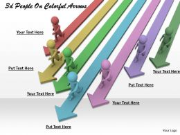 1113 3d People On Colorful Arrows Ppt Graphics Icons Powerpoint