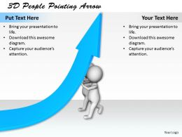 1113 3D People Pointing Arrow Ppt Graphics Icons Powerpoint