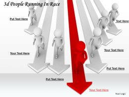 1113 3d People Running In Race Ppt Graphics Icons Powerpoint