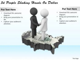 1113 3d People Shaking Hands On Dollar Ppt Graphics Icons Powerpoint
