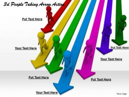 1113 3d People Taking Arrow Action Ppt Graphics Icons Powerpoint