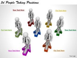 1113 3d People Taking Positions Ppt Graphics Icons Powerpoint