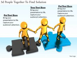 1113 3d People Together To Find Solution Ppt Graphics Icons Powerpoint