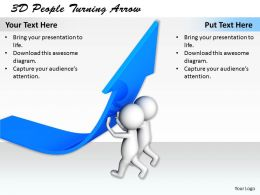1113 3D People Turning Arrow Ppt Graphics Icons Powerpoint