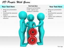 1113 3D People With Gears Ppt Graphics Icons Powerpoint