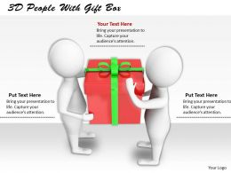 1113 3D People With Gift Box Ppt Graphics Icons Powerpoint