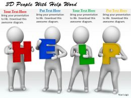 1113 3D People With Help Word Ppt Graphics Icons Powerpoint