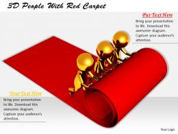 1113 3D People With Red Carpet Ppt Graphics Icons Powerpoint