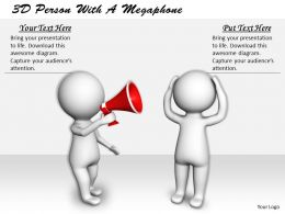 1113 3D Person With A Megaphone Ppt Graphics Icons Powerpoint