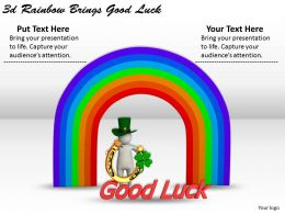 1113 3d Rainbow Brings Good Luck Ppt Graphics Icons Powerpoint