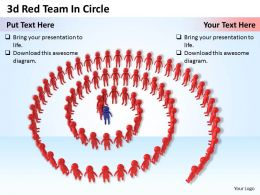 1113 3d Red Team In Circle Ppt Graphics Icons Powerpoint
