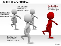 1113 3d Red Winner Of Race Ppt Graphics Icons Powerpoint
