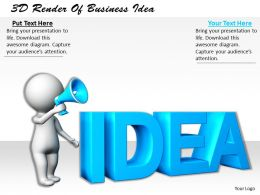 1113 3D Render Of Business Idea Ppt Graphics Icons Powerpoint