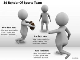1113 3d Render Of Sports Team Ppt Graphics Icons Powerpoint