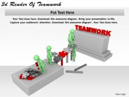1113 3d Render Of Teamwork Ppt Graphics Icons Powerpoint