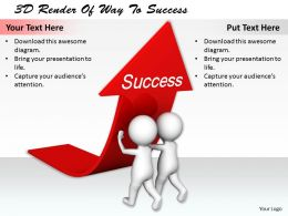1113 3D Render Of Way To Success Ppt Graphics Icons Powerpoint