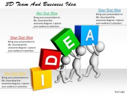 1113 3D Team And Business Idea Ppt Graphics Icons Powerpoint