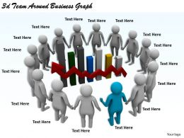 1113 3d Team Around Business Graph Ppt Graphics Icons Powerpoint