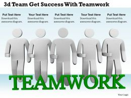 1113 3d Team Get Success With Teamwork Ppt Graphics Icons Powerpoint