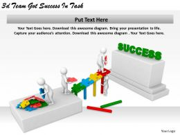 1113 3d Team Got Success In Task Ppt Graphics Icons Powerpoint