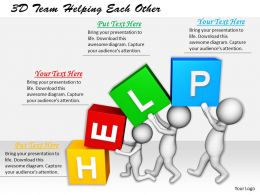 1113 3D Team Helping Each Other Ppt Graphics Icons Powerpoint