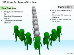 1113 3D Team In Arrow Direction Ppt Graphics Icons Powerpoint