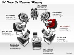 1113 3d Team In Business Meeting Ppt Graphics Icons Powerpoint