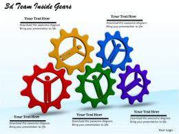 1113 3d Team Inside Gears Ppt Graphics Icons Powerpoint