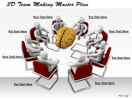 1113 3D Team Making Master Plan Ppt Graphics Icons Powerpoint