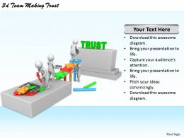 1113 3d Team Making Trust Ppt Graphics Icons Powerpoint