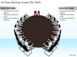 1113 3d Team Meeting Around The Table Ppt Graphics Icons Powerpoint